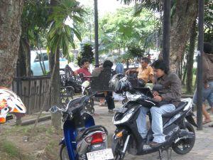 Suasana Hot-Spotan di Sudut Taman City Walk Solo