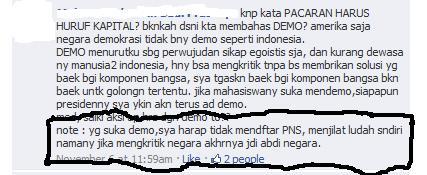 Komentar Kawan Dalam Diskusi di Facebook