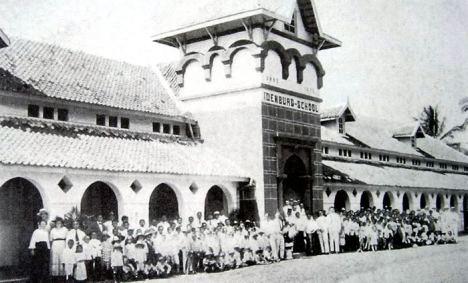 Idenburg School-Kawatan weg 1920