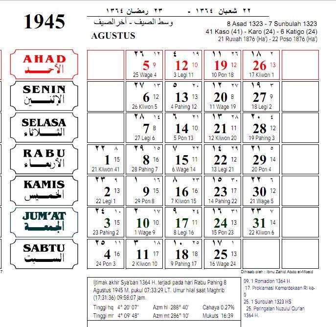 Hasil gambar untuk 17 Agustus 1945 bertepatan dengan bulan suci ramadhan