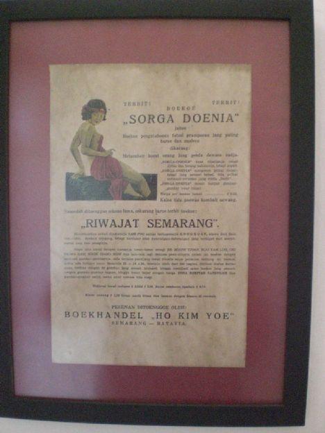 Iklan Jadul - Boekoe Sorga Doenia di Warung Kopitiam Oey Pak Bondan di Solo