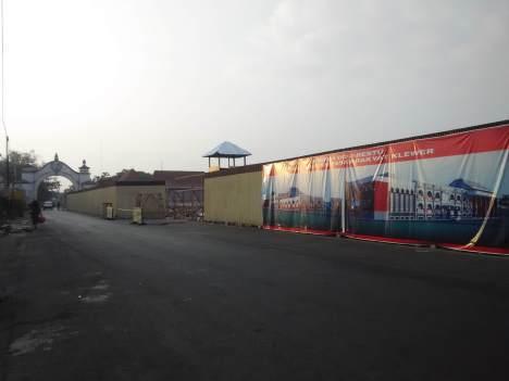 Pasar Klewer Surakarta pasca kebakaran diratakan dengan tanah
