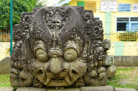 Patung Batara Kala di Candi Jago, Tumpang, Malang, Jawa Timur.