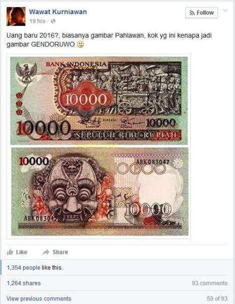 Isu Uang Rp10000 2016