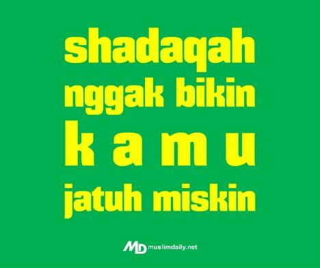 MD Shadaqah ngga bikin miskin